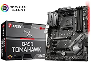 Pack placa base + procesador - Placa base MSI B450 Tomahawk (AM4, AMD B450, DDR4, HMDI), y procesador AMD Ryzen 5 2600X (19 MB, 6 núcleos, 4.25 GhZ, 95 W): Amazon.es: Informática