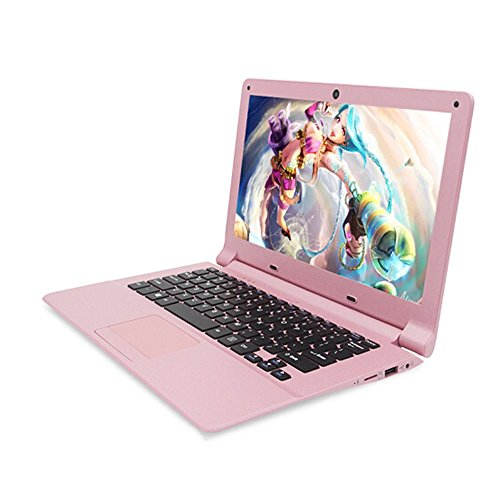 Pink Laptop Notebook - Smartbook A116 High-Performance 11.6 inch Ultra-Thin Portable Office Entertainment Notebook only 0.8KG (Intel Quad-core Processor, pre-Installed Windows 10 Professional, Office 2010 (2G+64GB, Pink)