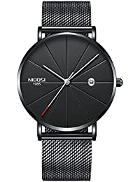 Watch VOEONS Slim Mens Watches, Analog Quartz Casual...