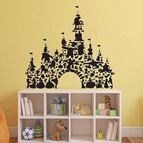 Amazon.com: Disney Castle Wall Decal Mickey Mouse Wall Sticker ...