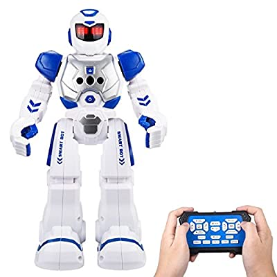 Sikaye Remote Control Robot For Kids Intelligent Programmable Robot With Infrared Controller Toys,Dancing,Singing, LED Eyes,Gesture Sensing Robot Kit For Childrens Entertainment