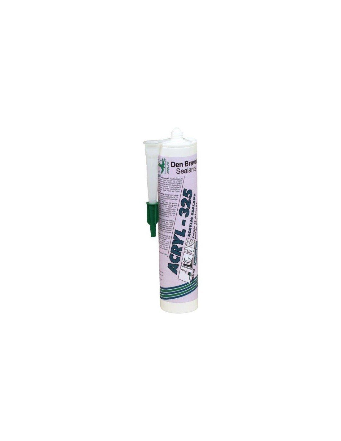 Mastic acrylique Acryl 325 blanc cartouche de 300ml Den Braven DEN BRAVEN FRANCE