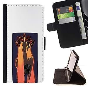 Momo Phone Case / Flip Funda de Cuero Case Cover - Naranja Woamn Cabello;;;;;;;; - Sony Xperia Z3 D6603