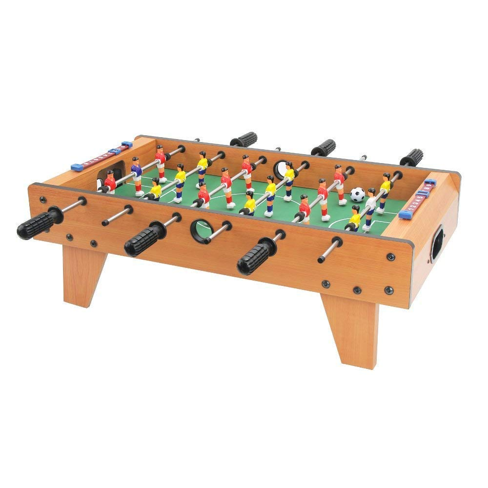 Huang Guan 27 Inch Mini Foosball Table with Legs, Soccer Table Game Table, for Beginners to Intermediate Players, Stylish and Contemporary Design