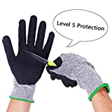 Kottle Cut Resistant Gloves with CE Level 5 Protection, Food Grade, Safety Kitchen Working Gloves for Men & Women (Medium)