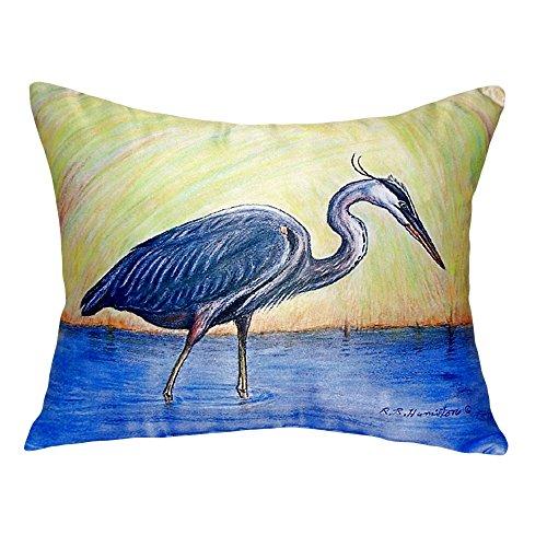 """Betsy Drake NC027 Blue Heron No Cord Pillow, 16"""" x20"""" from Betsy Drake"""