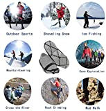 PSQ Ice Cleats, Walk Traction Cleats with a Pair of