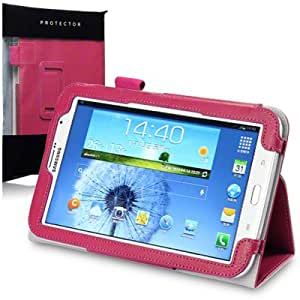 PU Leather Wallet Case with Stand and Hand Grip By Terrapin - Pink for Samsung Galaxy Note 8.0 N5100