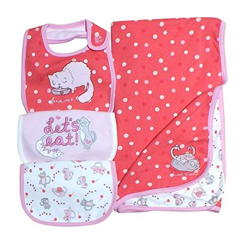 oshkosh-baby-girls-kitty-bibs-3-pack-with-blanket-pink-white-onesize