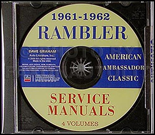 CD-ROM 1961-1962 AMC Rambler Repair Shop Manual Set