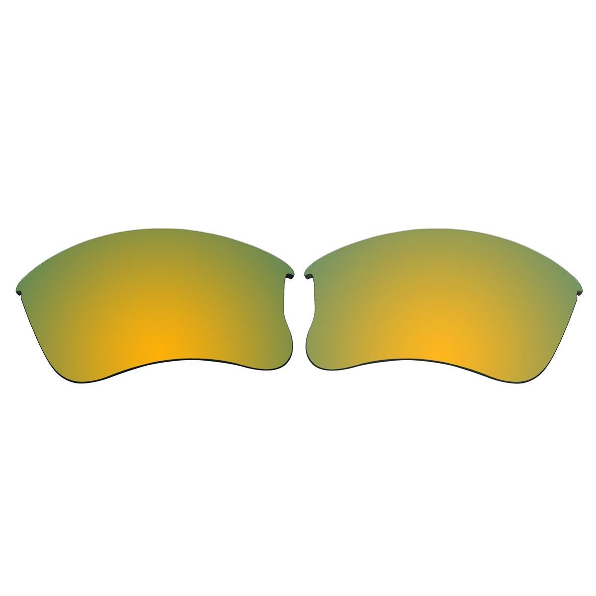 aCompatible Replacement Polarized Lenses for Oakley Flak Jacket XLJ (Gold Mirror)
