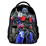 YOURNELO Boy's 3D Printed Pattern Transformers Rucksack School Backpack Bookbag (Optimus Prime2)