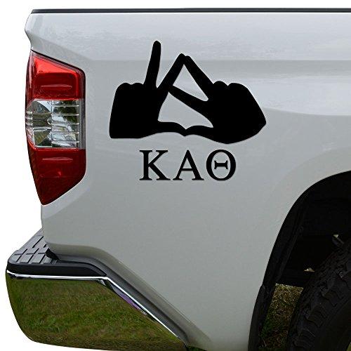 Greek Sorority Hand Sign Kappa Alpha Theta Die Cut Vinyl Decal Sticker For Car Truck Motorcycle Window Bumper Wall Decor Size- [8 inch/20 cm] Wide Color- Matte White