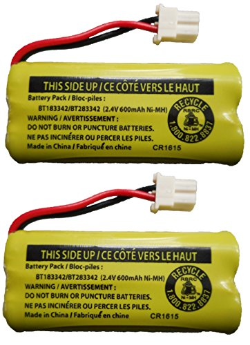JustGreatDealz Battery BT183342 / BT283342 for Vtech ATT Cordless Telephones CS6114 CS6419 CS6719 EL52300 CL80111 (2-Pack) (Bt283342 Battery Cordless Phone)