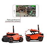 FPV WiFi RC Car, Talent Star Phone App Remote Control Off-Road Vehicle Battle Tank with WiFi Live Stream Camera Built-in AR PVE & PVP Shooting Game