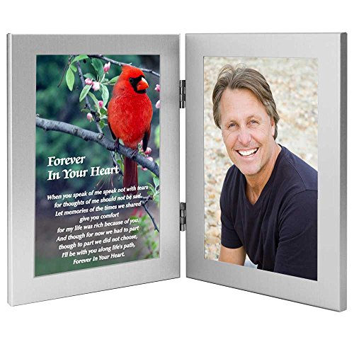 Cardinal Condolence Sympathy Gift - Sweet Poem Honoring The Deceased - Remembrance of Him or Her - Photo Added to Frame After Delivery ()