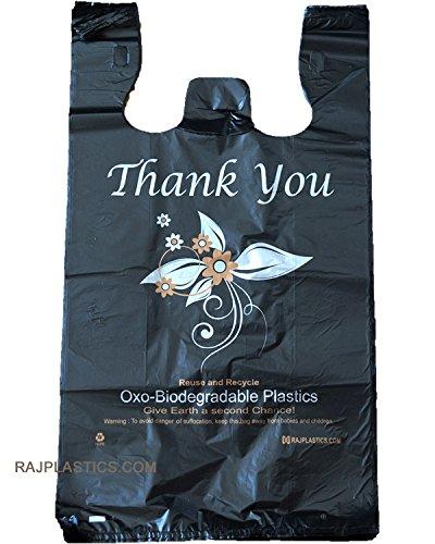 Bolsas de la compra de plástico biodegradables de tamaño grande ...