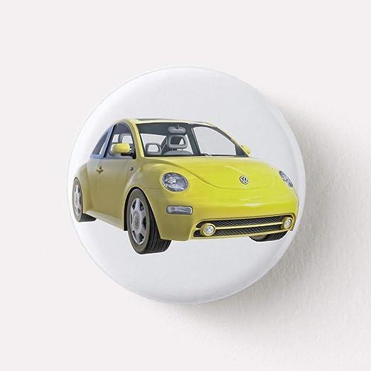 Amazon Com Zazzle Euro Car In Yellow Button Clothing