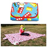 KF Baby Feeding and Play Mat – School Bus (68 x 61 inch), Baby & Kids Zone