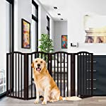 PETMAKER Freestanding Pet Gate Collection – Wooden Folding Fence for Doorways, Halls, Stairs & Home – Step Over Divider…