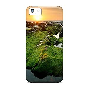 GoldenArea Case Cover Iphone 5s for you Protective Case Wild Seacoast At Sunset