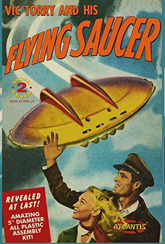 Vic Torry's Flying Saucer 5-Inch Model Kit with Light (Ufo Model Plastic Kit)