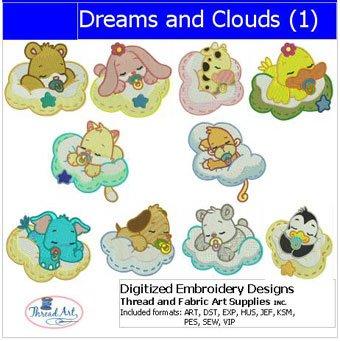 (Threadart Machine Embroidery Designs -Dreams and Clouds(1) - USB Stick)