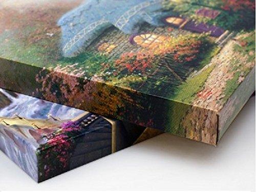 Thomas Kinkade Disney Peter Pans Never Land 14 X 14 Gallery Wrapped Canvas