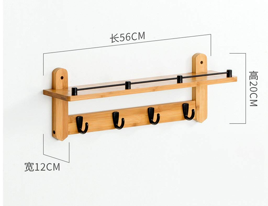 SED Coat Rack-Hanger Floor Bedroom Entrance Hook up Wall Hanging Solid Wood Foyer Wall Hanger Sturdy Space Saving Storage Rack by SED (Image #1)