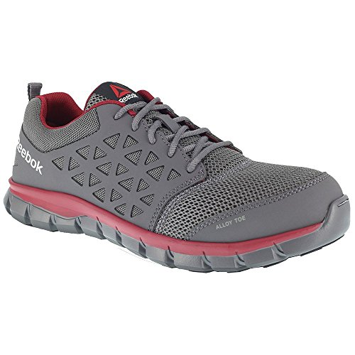 Reebok Work Men's Sublite Cushion Work EH Grey/Red Synthetic 14 D US D (M)