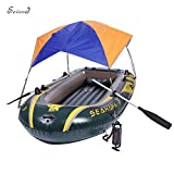Foldable Awning for Intex Seahawk 3 Inflatable Boat Sun Shelter Fishing Tent (No Boat Included)