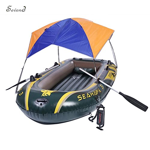 Foldable Awning for Intex Seahawk 3 Inflatable Boat Sun Shelter Fishing Tent (No Boat Included) by Sevend
