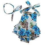 Toddler Floral Romper Kids Summer Clothes 18-24 Months,blue3,13-24 Months(Size L)