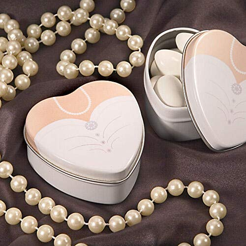 - Dressed to The Nines Heart Shaped Bride Mint Tins Wedding Favors Party Supplies tokolitearom