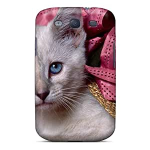 New Snap-on Billyar Skin Case Cover Compatible With Galaxy S3- Siamese Kitten Hiding