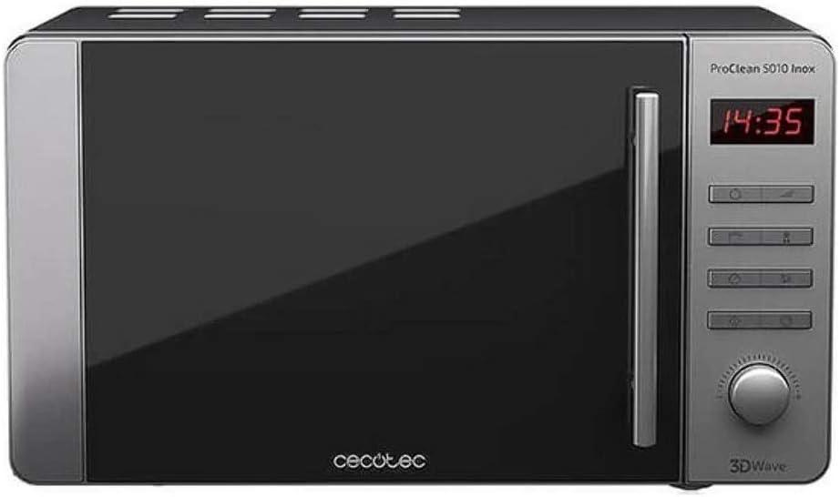 Cecotec Microondas ProClean 5010. Capacidad de 20l, Revestimiento Ready2Clean, 700 W en 5 niveles de potencia, 5 Niveles Funcionamiento, 8 Programas, Temporizador 60 min, Pantalla LED