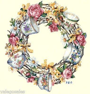 cup Wreath Cross Stitch Kit ()