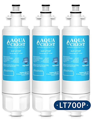 AQUACREST LT700P Replacement for LG LT700P, ADQ36006101, KENMORE 469690 Refrigerator Water Filter (3 Pack)