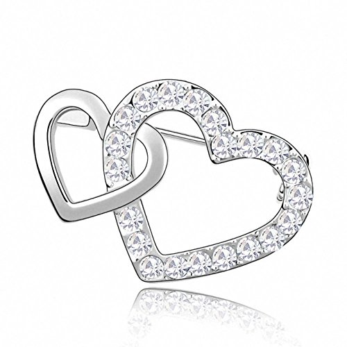 Changeable Women Brooch Crystals Made with SWAROVSKI ELEMENT (Heart by Heart