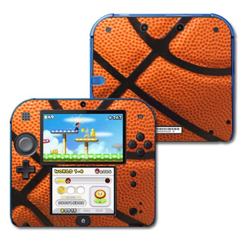 MightySkins Skin Compatible with Nintendo 2DS - Basketball | Protective, Durable, and Unique Vinyl Decal wrap Cover | Easy to Apply, Remove, and Change Styles | Made in The USA
