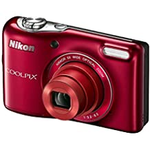 Nikon Coolpix L32Cámara digital con 5x lente gran angular zoom Nikkor Base Rojo