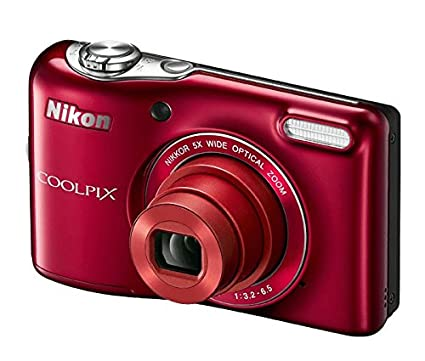 Image Unavailable Not Available For Color Nikon COOLPIX L32 Digital Camera With 5x Wide Angle NIKKOR Zoom Lens