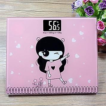 ZhangTianShi Báscula de baño Mini escalas electrónicas escalas de peso electrónico en el hogar escalas de cuerpo escalas de salud de dibujos animados mini ...