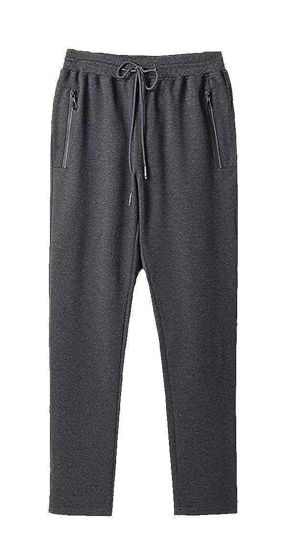 Etecredpow Men Athletic Elastic Waist Casual Large Size Sweatpants Pants Trousers