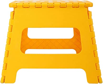 Blue Mootea Folding Step Stool,Thick Plastic Portable Polka Dot Folding Stool Plastic Stool 28.521.527cm