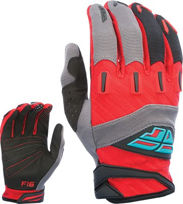 Fly Racing Unisex-Adult F-16 Gloves Red//Black//Grey XX-Large 370-91212