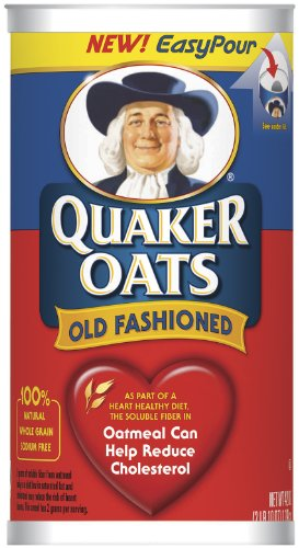 Quaker Oats Oatmeal, Old Fashioned, 42-Ounce Containers (Pack of 4)
