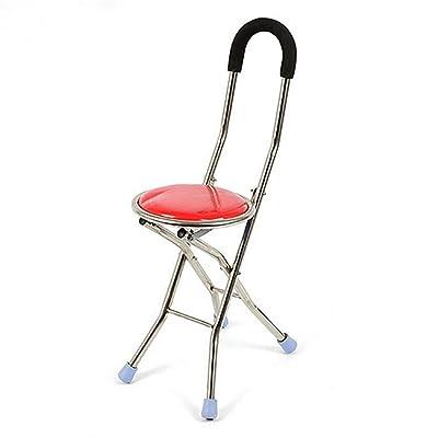 GUO Aluminum Chaise Pliante Quatre Personnes Ges Canne Bquille Pouf Multifonctionnel