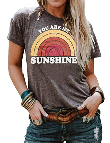 Nlife Women You are My Sunshine Letter Printed