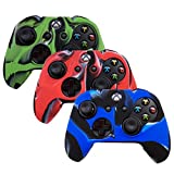 Pandaren Soft Silicone Thicker Skin Cover for Xbox One Controller Set (Camoufalge Skin X 3 + Thumb Grip X 6)(Blue,Red,Green) Review